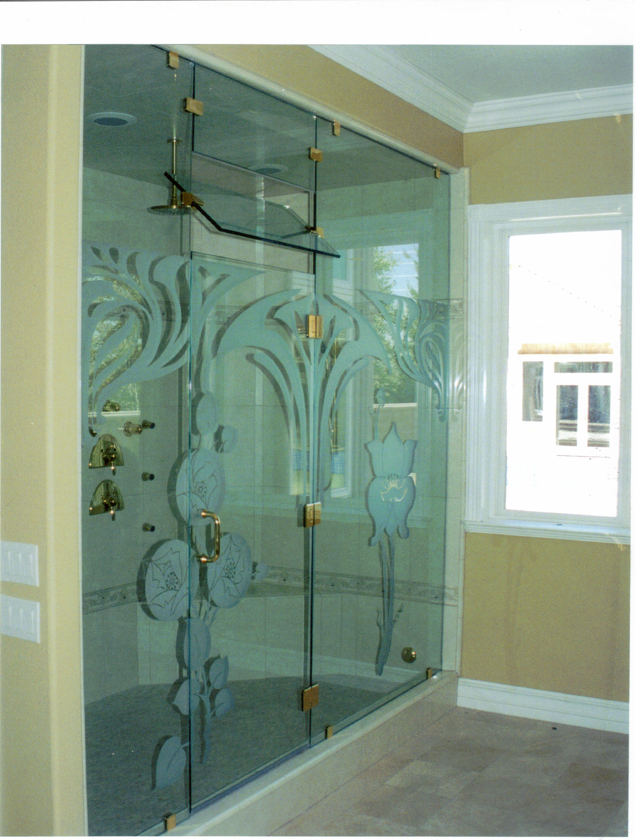5 diy shower door decorating ideas