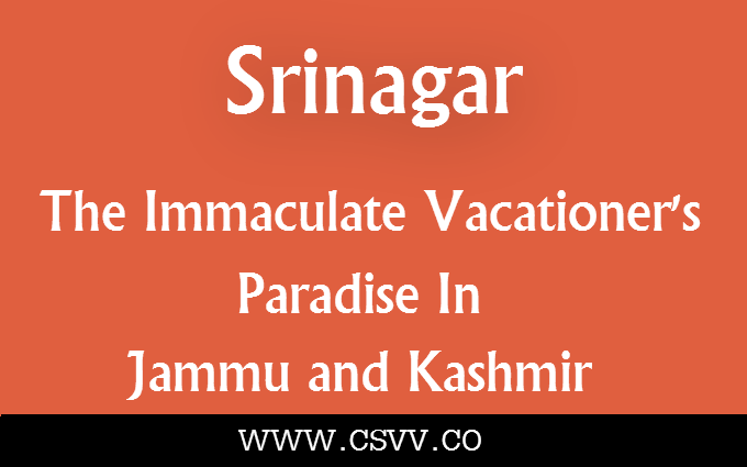 Srinagar – The Immaculate Vacationer's Paradise in Jammu and Kashmir