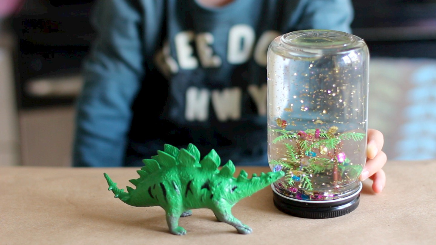 Making Snow Globes From Baby Food Jars