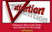 crash diets are harmful to your body